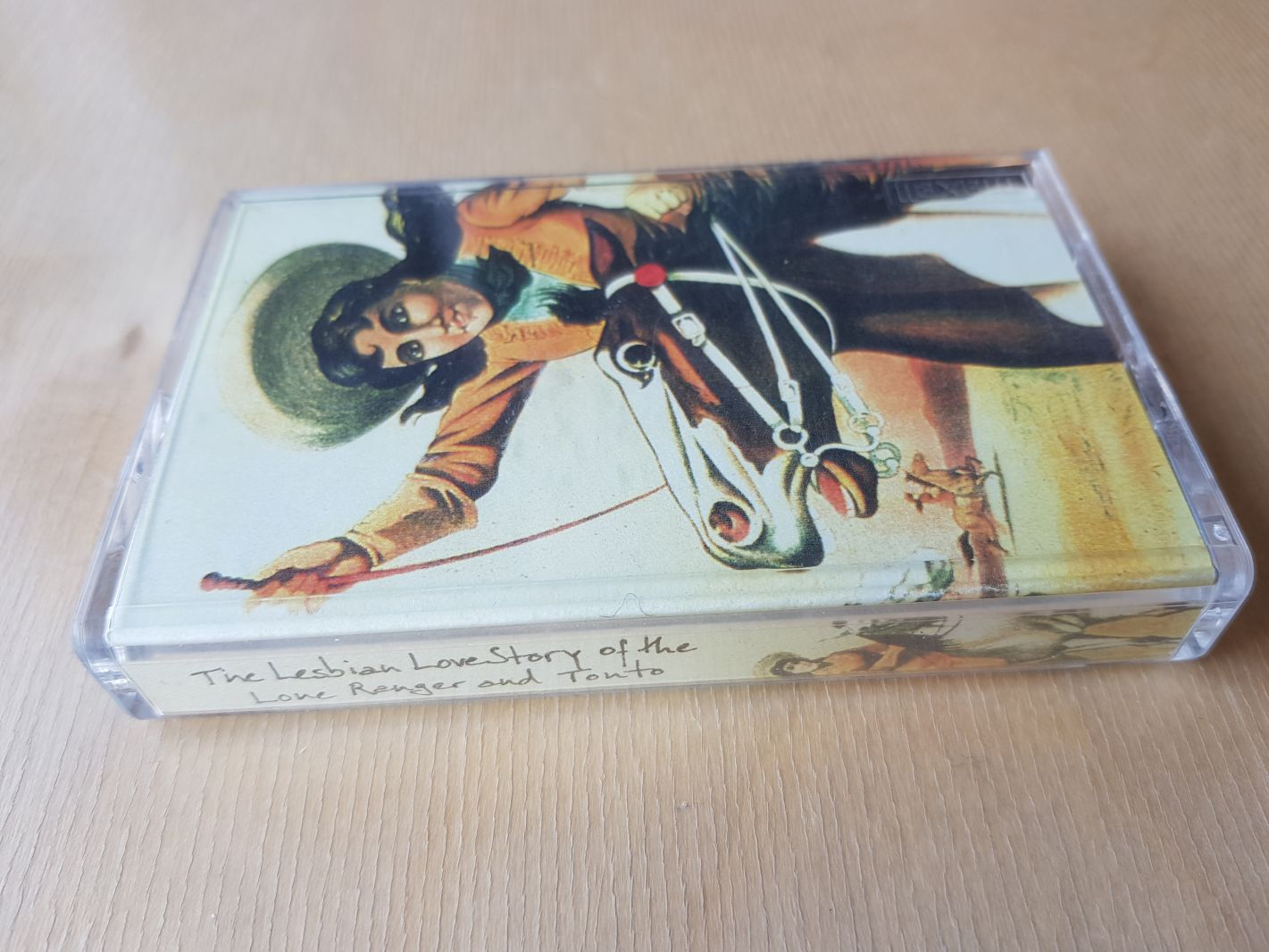 "Shawna Dempsey & Lorri Millan, ""The Lesbian Love Story of the Lone Ranger & Tonto"" cassette"